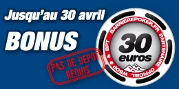 Bonus 30€ Barrierepoker 2012